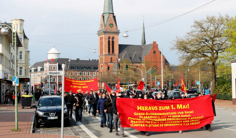 1. Mai Demonstration 2021 Bremerhaven 1