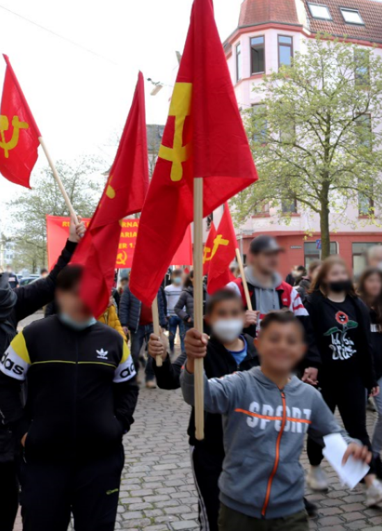 1. Mai Demonstration 2021 Bremerhaven 5