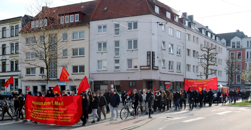 1. Mai Demonstration 2021 Bremerhaven 7