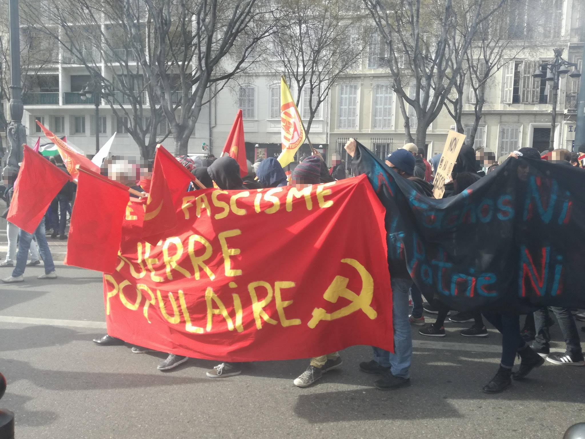 antifa demo marseille 3